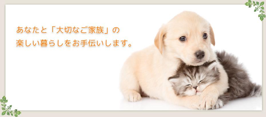 あなたと、「大切なご家族」の楽しい暮らしをお手伝いします。